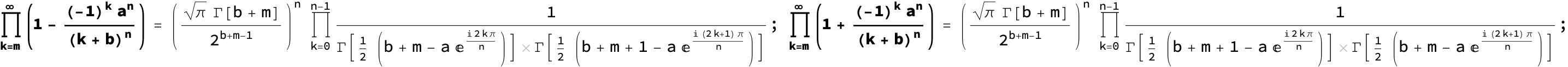 Table of Infinite Products Infinite Sums Infinite Series